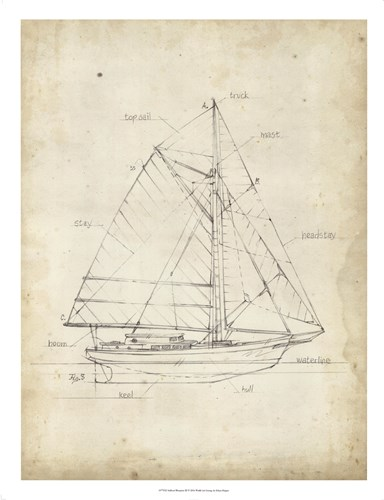 Sailboat Blueprint III Poster by Ethan Harper for $68.75 CAD