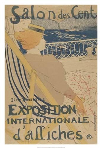 Salon des Cent-Exposition Internationale d'affiches Poster by Henri de Toulouse-Lautrec for $93.75 CAD