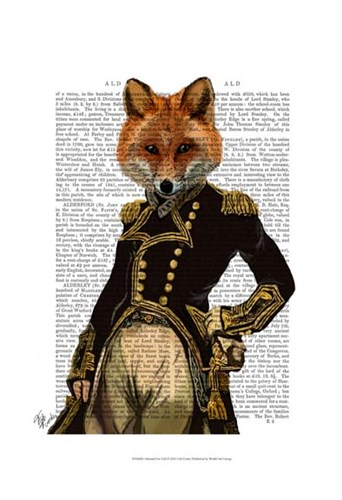 Admiral Fox Full I Poster by Fab Funky for $20.00 CAD