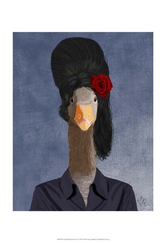 Amy Winehouse Goose II Poster by Fab Funky for $20.00 CAD