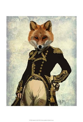 Admiral Fox Full II Poster by Fab Funky for $20.00 CAD
