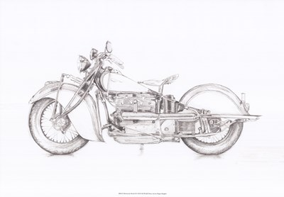 Motorcycle Sketch II Poster by Megan Meagher for $56.25 CAD