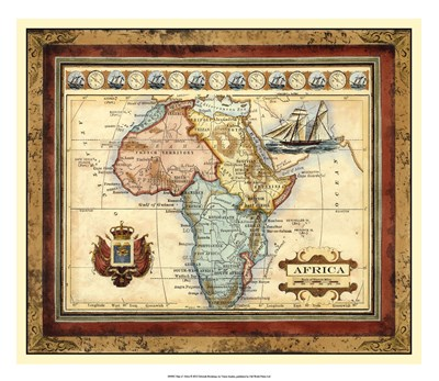 Map of Africa Poster by Vision Studio for $56.25 CAD