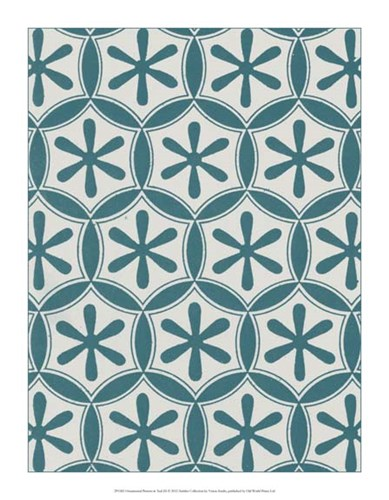 Ornamental Pattern in Teal III Poster by Vision Studio for $31.25 CAD