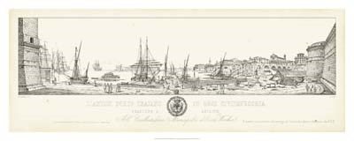 Antique Seaport II Poster by Antonio Aquaroni for $97.50 CAD