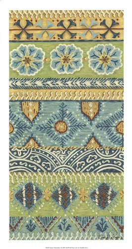 Eastern Embroidery I Poster by Chariklia Zarris for $52.50 CAD