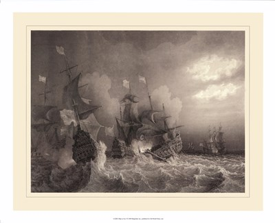 Ships at Sea I Poster by Gudin for $60.00 CAD