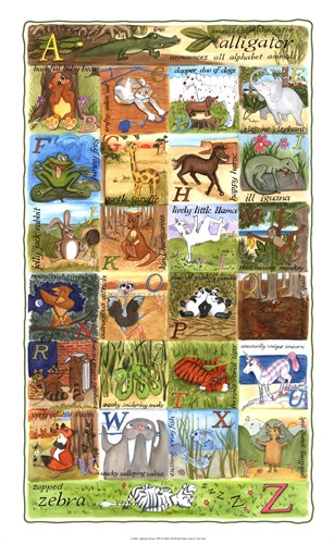 Alphabet Poster Poster by Tara Friel for $60.00 CAD