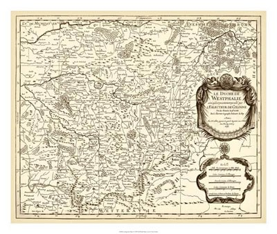 Antiquarian Map I Poster by Vision Studio for $75.00 CAD
