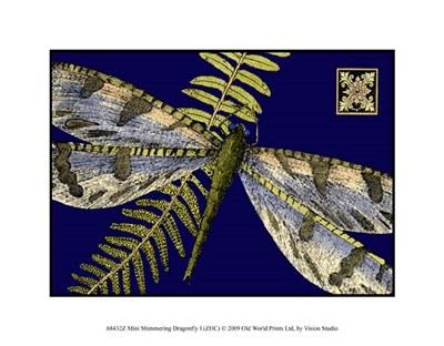 Mini Shimmering Dragonfly I Poster by Vision Studio for $12.50 CAD