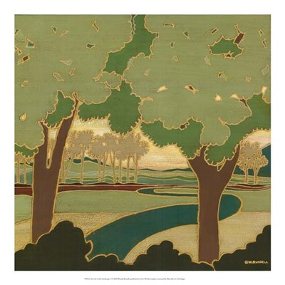 Arts & Crafts Landscape I Poster by Wendy Russell for $50.00 CAD