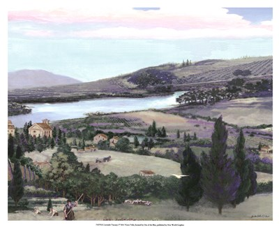 Lavender Tuscany I Poster by Victor Valla for $50.00 CAD
