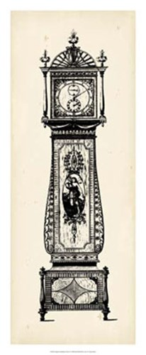 Antique Grandfather Clock II Poster by Vision Studio for $56.25 CAD