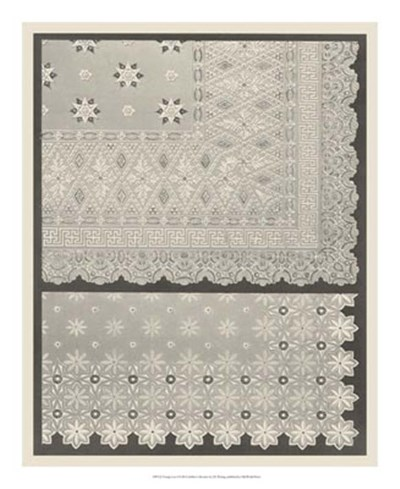Vintage Lace I Poster by Janet Waring for $50.00 CAD