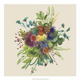 Watercolor Floral Spray III