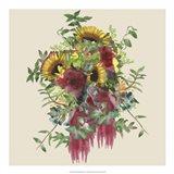 Watercolor Floral Spray IV