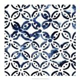 Cobalt Watercolor Tiles I