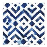 Cobalt Watercolor Tiles II