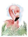Watercolor Flamingo Composition I