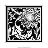 B&W Graphic Floral Motif II