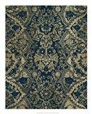 Baroque Tapestry in Aged Indigo II