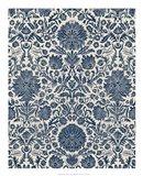 Baroque Tapestry in Navy I