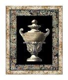 Urn on Marbleized Background I