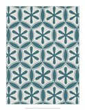 Ornamental Pattern in Teal III