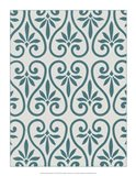 Ornamental Pattern in Teal IX
