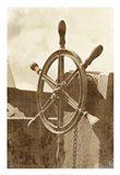 Sepia Ship's Wheel I