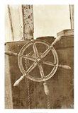Sepia Ship's Wheel II