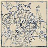 Indigo Floral Sketch I