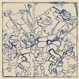 Indigo Floral Sketch II