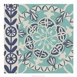 Blue Batik Tile I