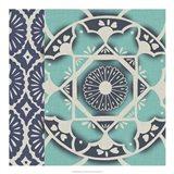 Blue Batik Tile II