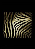 Gold Foil Zebra Pattern on Black