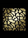 Gold Foil Giraffe Pattern on Black