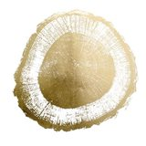 Gold Foil Tree Ring II - Metallic Foil