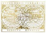UA CH Gold Foil Vintage Map