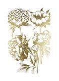 Gold Foil Floral Chintz II