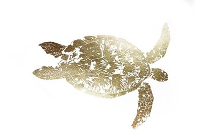 Gold Foil Sea Turtle I Poster by Grace Popp for $162.50 CAD