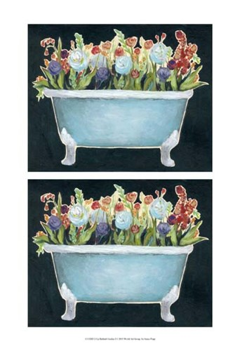 2-Up Bathtub Garden I Poster by Grace Popp for $21.25 CAD