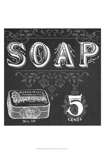 Chalkboard Bath Signs I Poster by June Erica Vess for $21.25 CAD