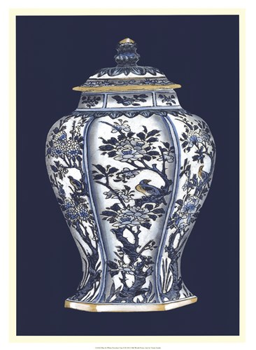 Blue & White Porcelain Vase II Poster by Vision Studio for $72.50 CAD