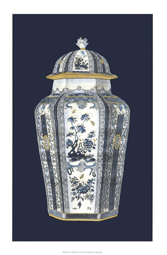 Asian Urn in Blue & White I Poster by Vision Studio for $60.00 CAD