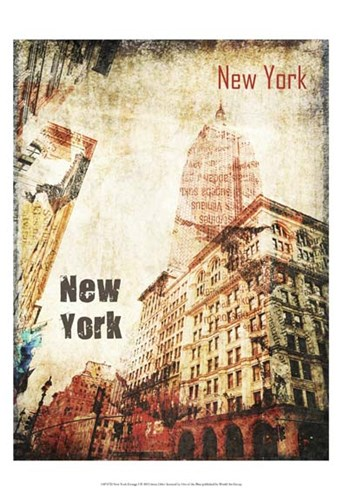 New York Grunge I Poster by Irena Orlov for $21.25 CAD
