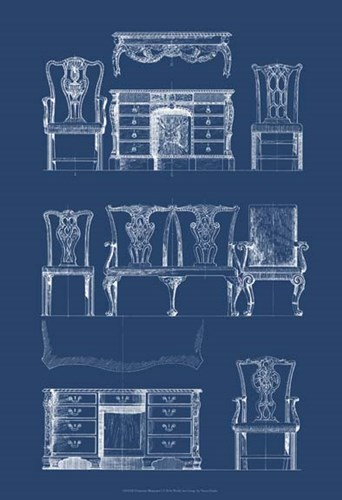 Furniture Blueprint I Poster by Vision Studio for $21.25 CAD