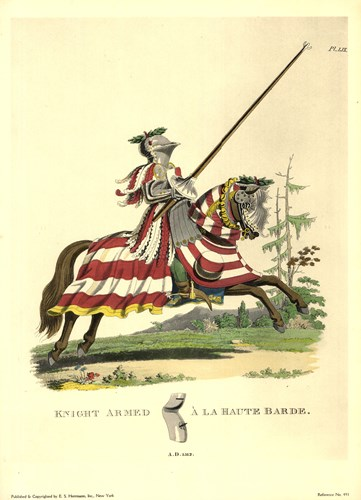 1512-Knight Armed a La Haute Barde Poster by Samuel R. Meyrick for $27.50 CAD