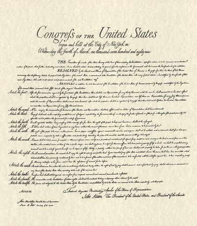 Bill of Rights (Document) Poster by Unknown for $23.75 CAD