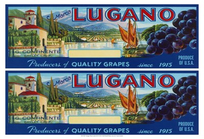 2-Up Vintage Wine Label III Poster by Vision Studio for $21.25 CAD
